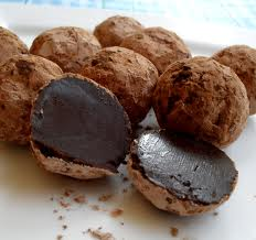 Chocolate Truffles with Violet Balsamic