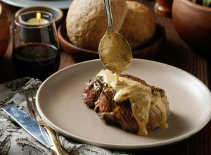 Steak Diane with Butter Olive Oil and Lemon Balsamic
