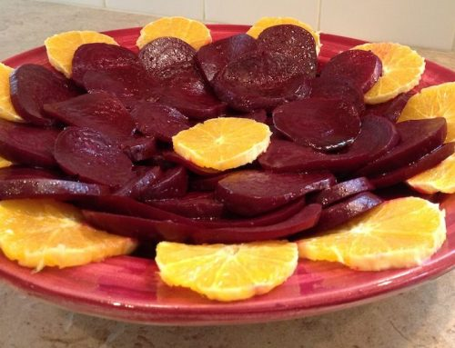 Slow Roasted Beet Salad with Balsamic Vinaigrette