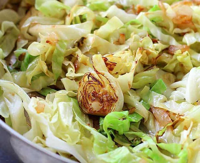 Sautéed Cabbage with olive oil