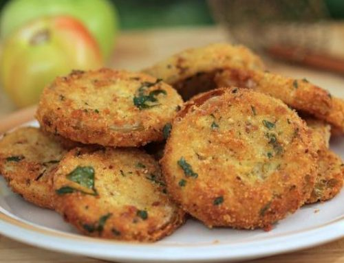 Savory Fried Green Tomatoes in Olive Oil