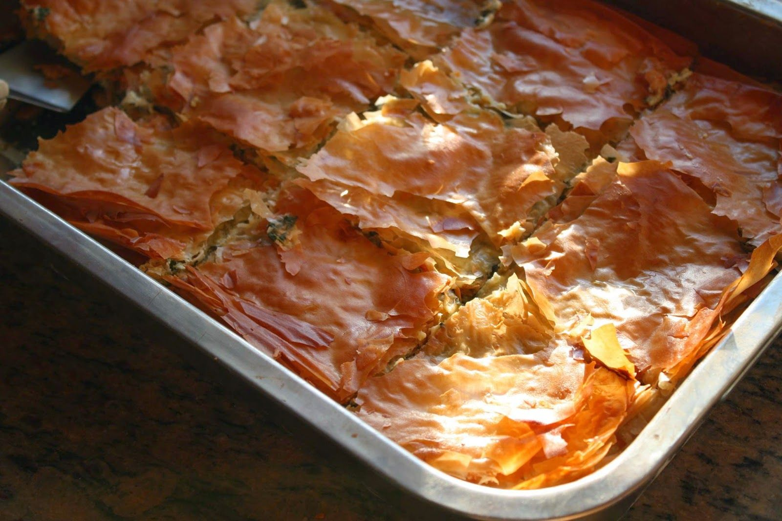 Spanakopita with Garlic Olive Oil