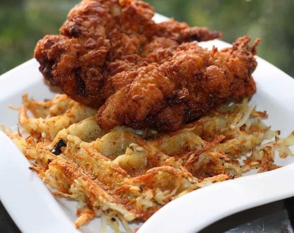 Spicy Baklouti Latke Waffles