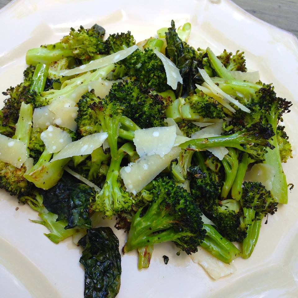 Roasted Broccoli with shaved Parmesan & White Truffle Oil