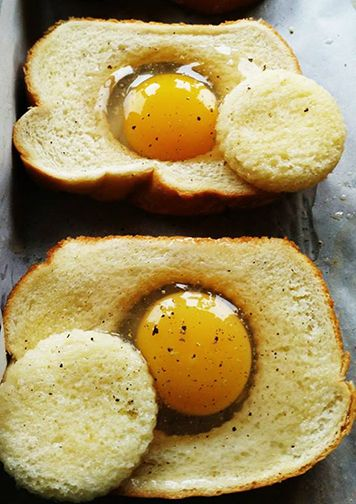 Oven Baked Eggs in a Brioche Basket with Heart Healthy Olive Oil