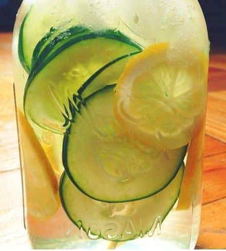 Lemon Cucumber Sparkler with Grapefruit White Balsamic