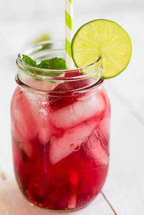 "Raspberry White Balsamic ""Mojito"""
