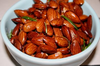 Smoky Almonds Roasted with Olive Wood Smoked Olive Oil