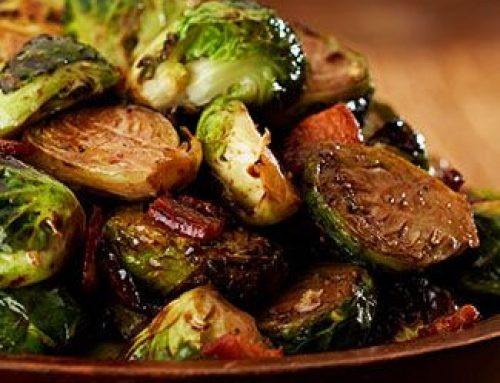 Brussels Sprouts with Bacon and Maple Balsamic
