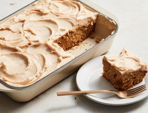 Apple Cake with Cinnamon Cream Cheese Frosting