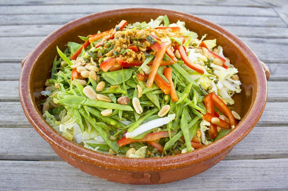 Asian-Style Coleslaw with Honey Ginger balsamic