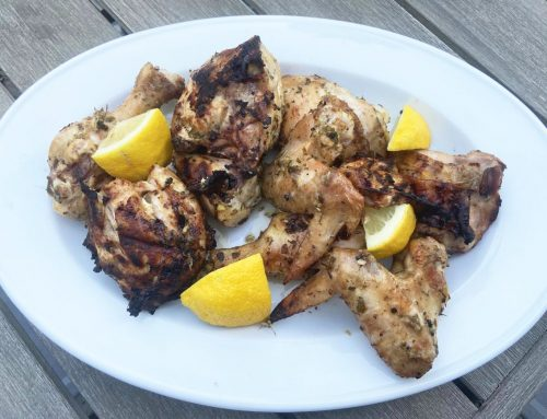 Grilled Chicken with Cilantro-Garlic-Mint Marinade