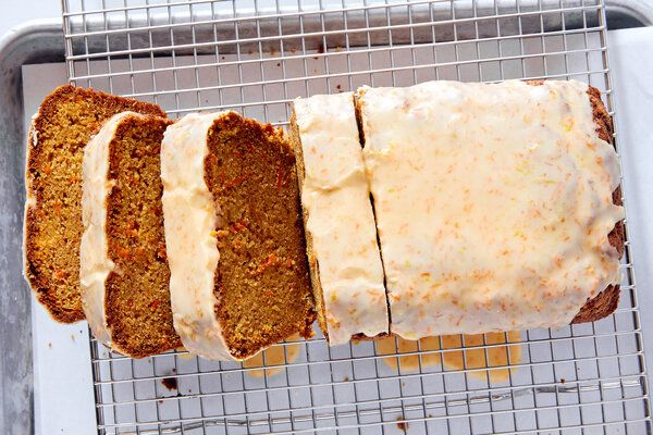 Carrot Cake with Lemon Balsamic Glaze