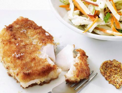 Pan-Fried Cod with Slaw