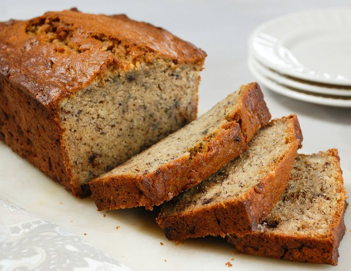 wholegrain Banana Bread with olive oil