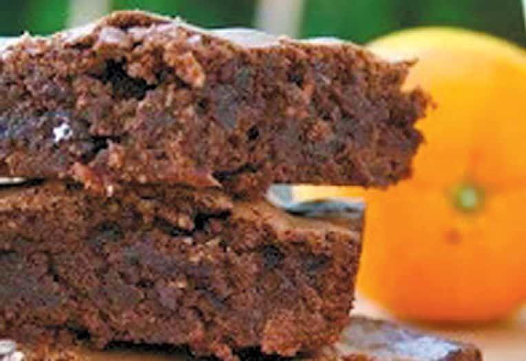 Blood Orange Chocolate Brownies